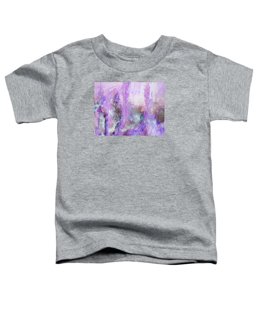Abstract Art Toddler T-Shirt featuring the digital art Whisper Softly by Linda Murphy
