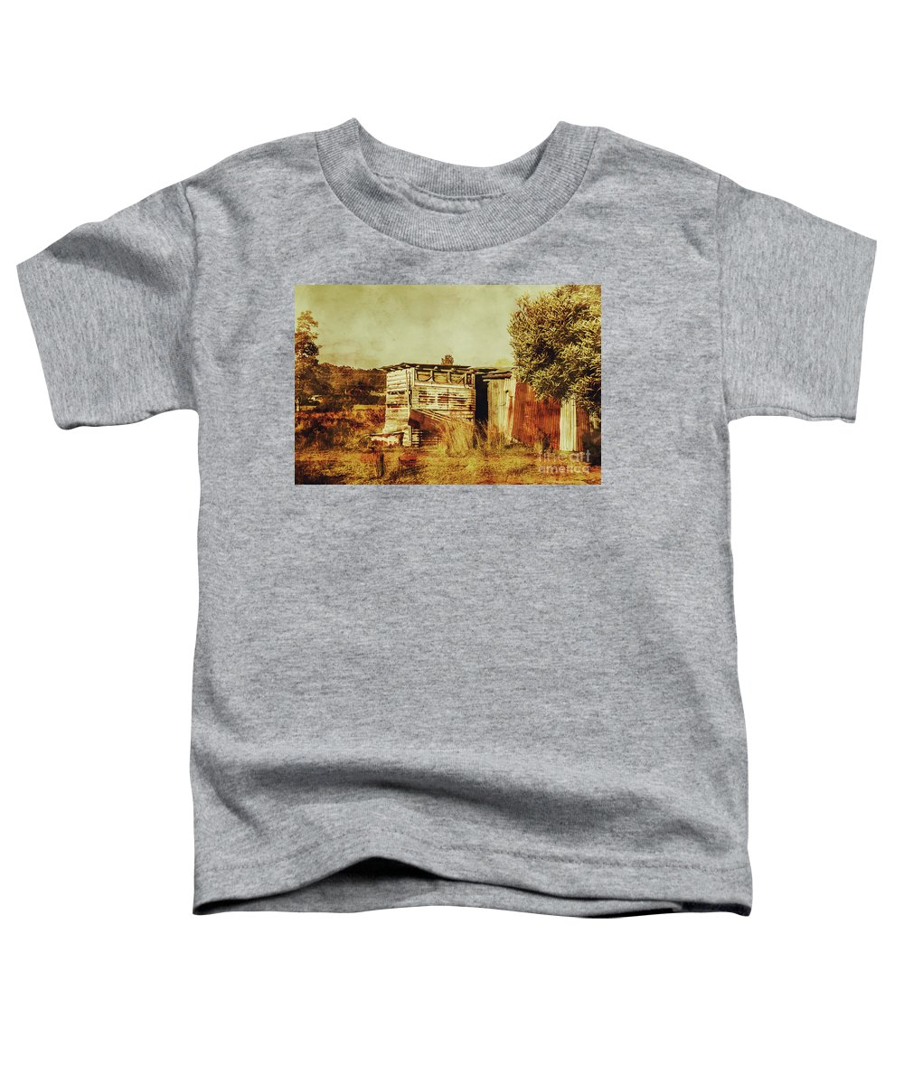 Australia Toddler T-Shirt featuring the photograph Wild West Australian Barn by Jorgo Photography - Wall Art Gallery