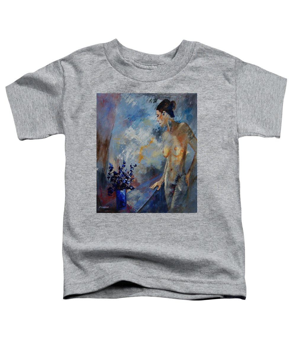 Girl Toddler T-Shirt featuring the painting Will He Be Coming by Pol Ledent