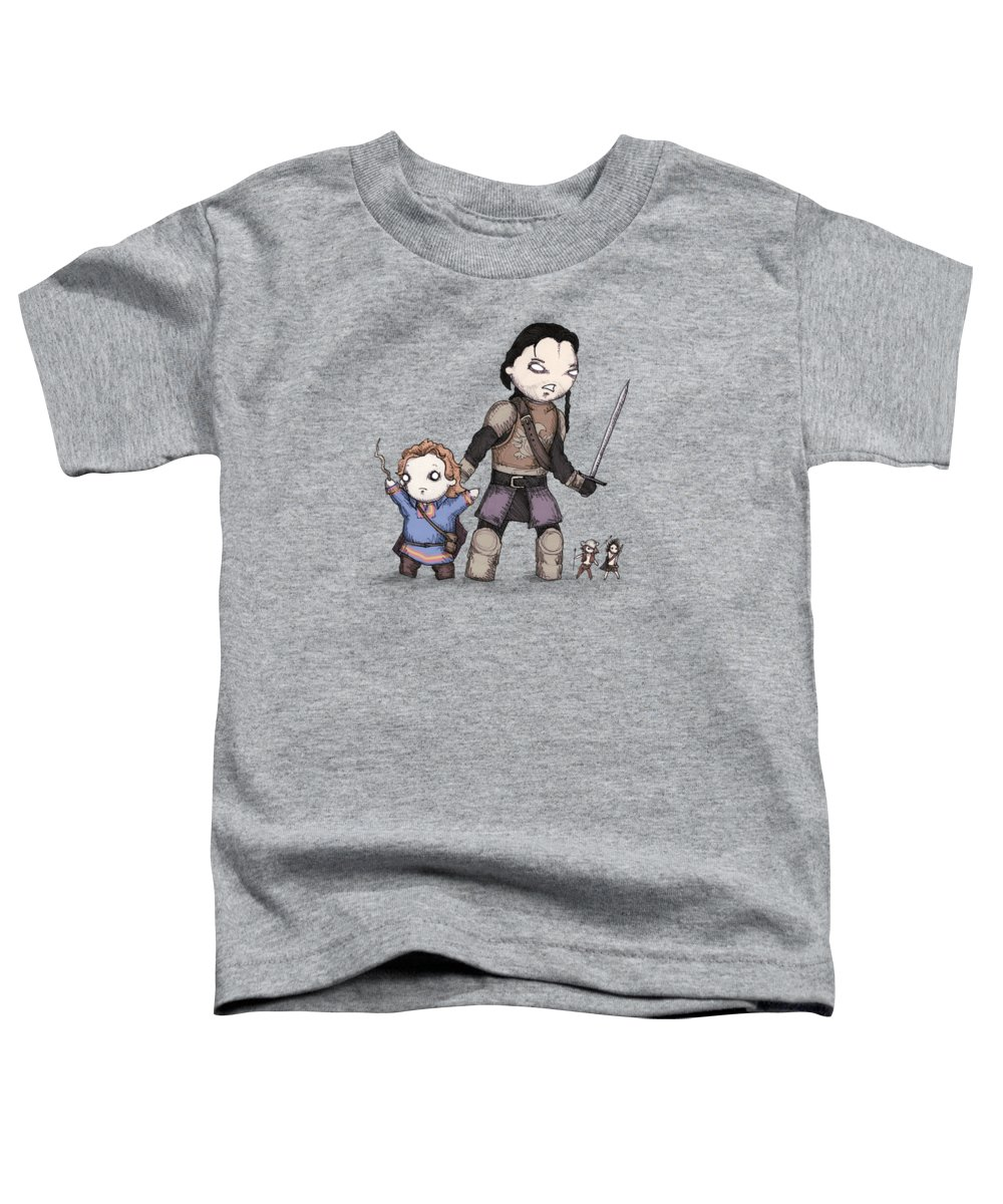 Willow Toddler T-Shirt featuring the drawing Willow by Ludwig Van Bacon