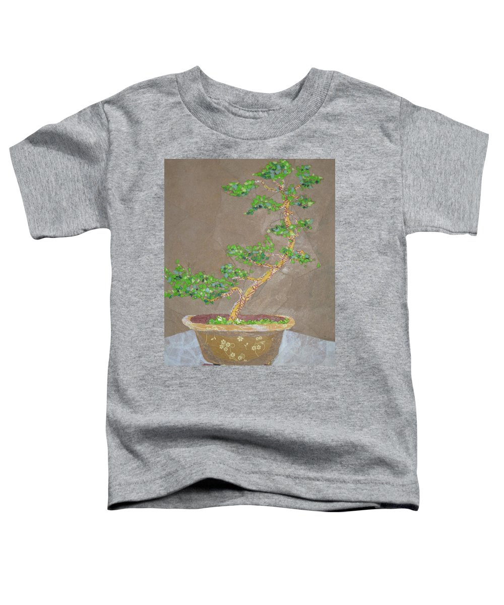 Banzai Tree Toddler T-Shirt featuring the painting Windswept Juniper by Leah Tomaino