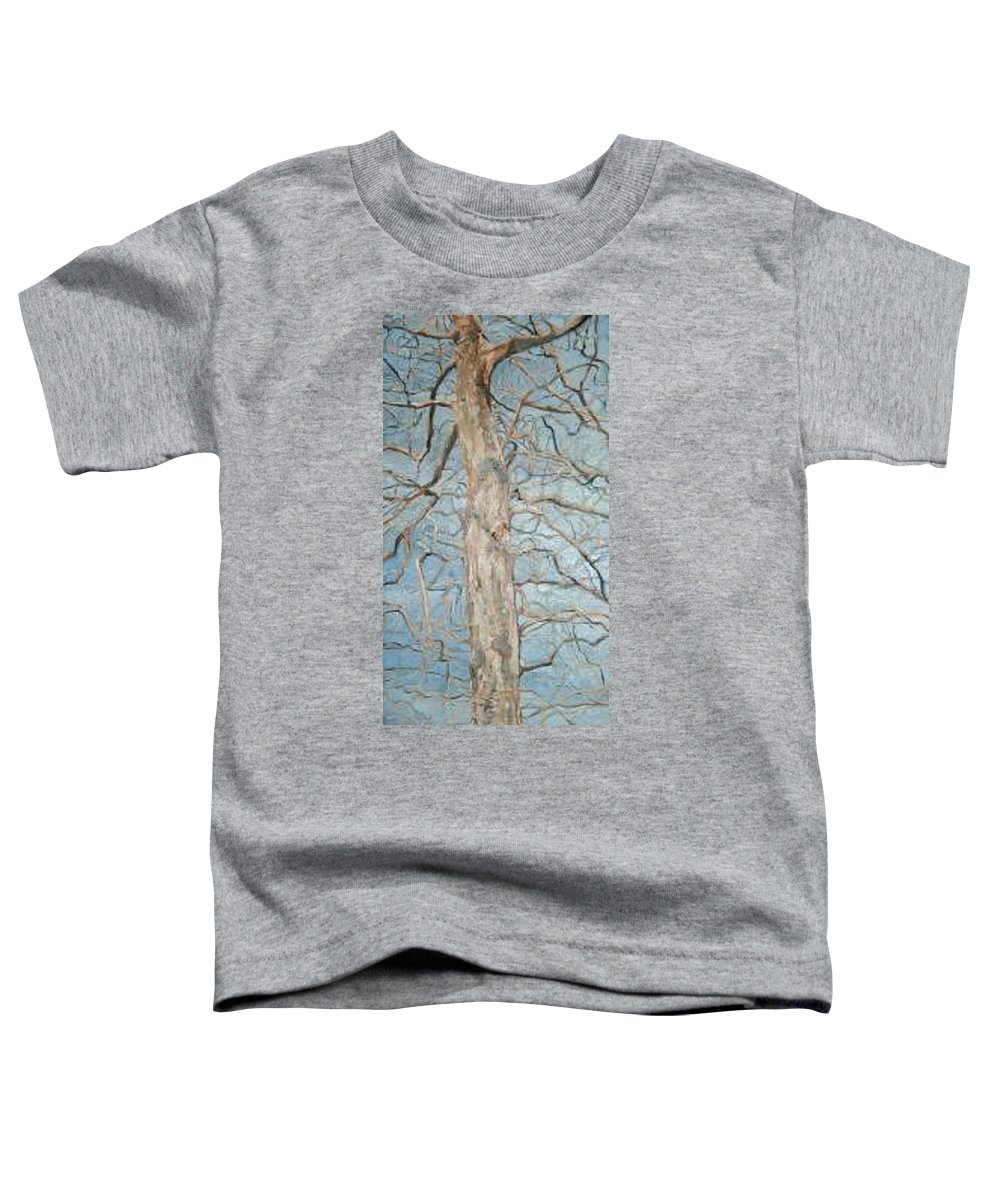 Tree Toddler T-Shirt featuring the painting Winter Morning by Leah Tomaino