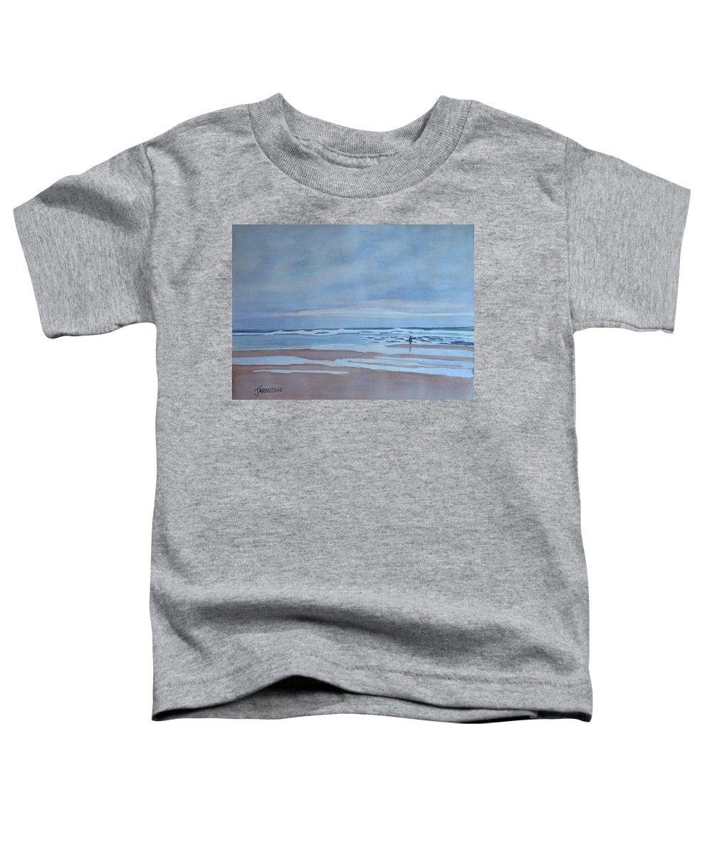 Ocean Toddler T-Shirt featuring the painting Winter Morning Solitude by Jenny Armitage