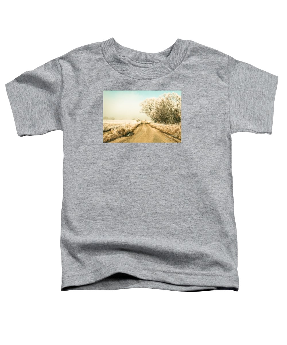 Winter Toddler T-Shirt featuring the photograph Winter Road Wonderland by Jorgo Photography - Wall Art Gallery