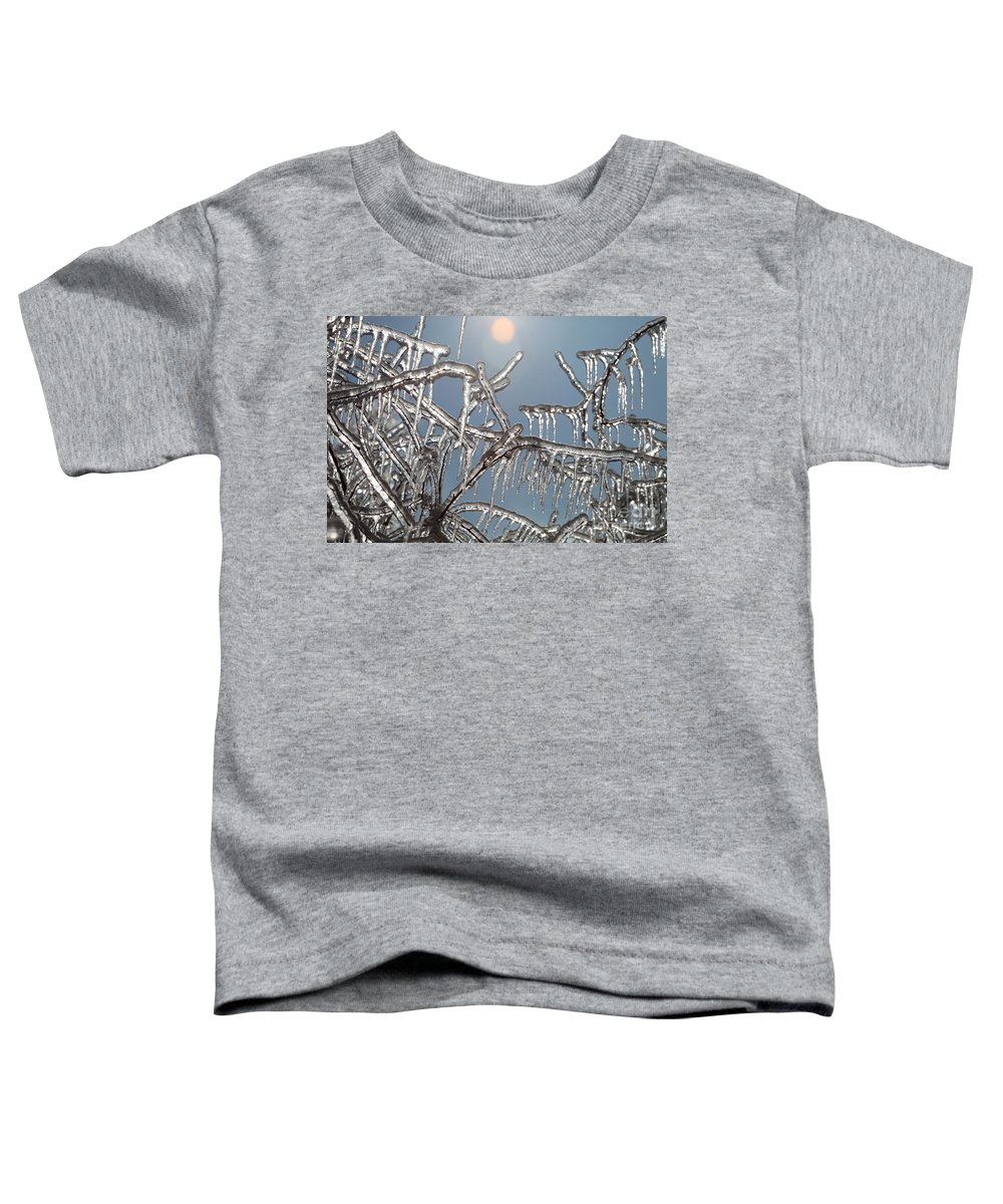 Winter Toddler T-Shirt featuring the photograph Winter Warmth by Nadine Rippelmeyer