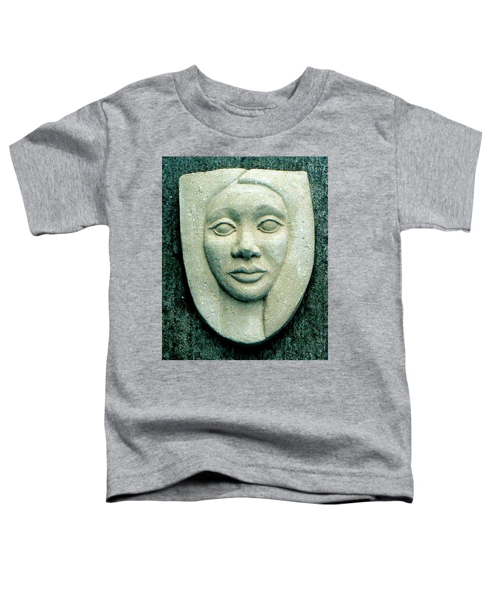 Relief Toddler T-Shirt featuring the relief Without Veils by Madalena Lobao-Tello