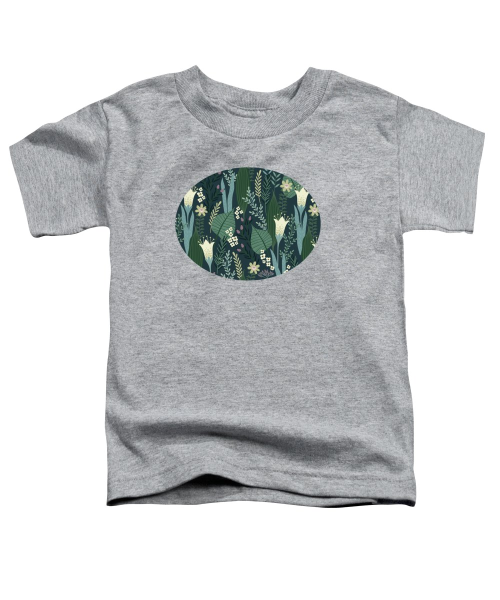 Pattern Toddler T-Shirt featuring the painting Wonderful Mid Century Style Garden Patten by Little Bunny Sunshine