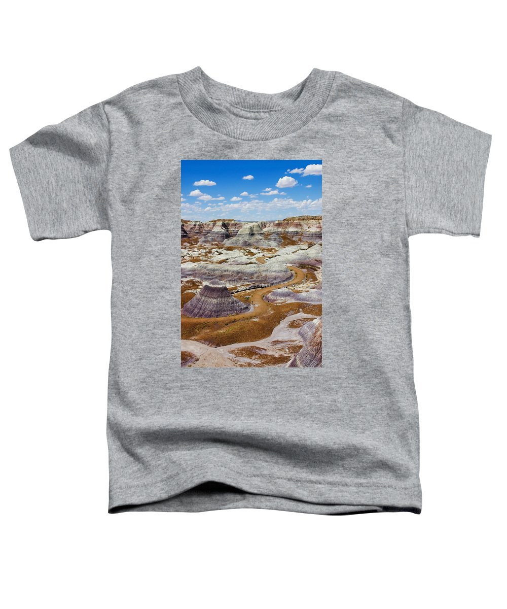 Painted Desert Toddler T-Shirt featuring the photograph Yea Though I Walk by Skip Hunt