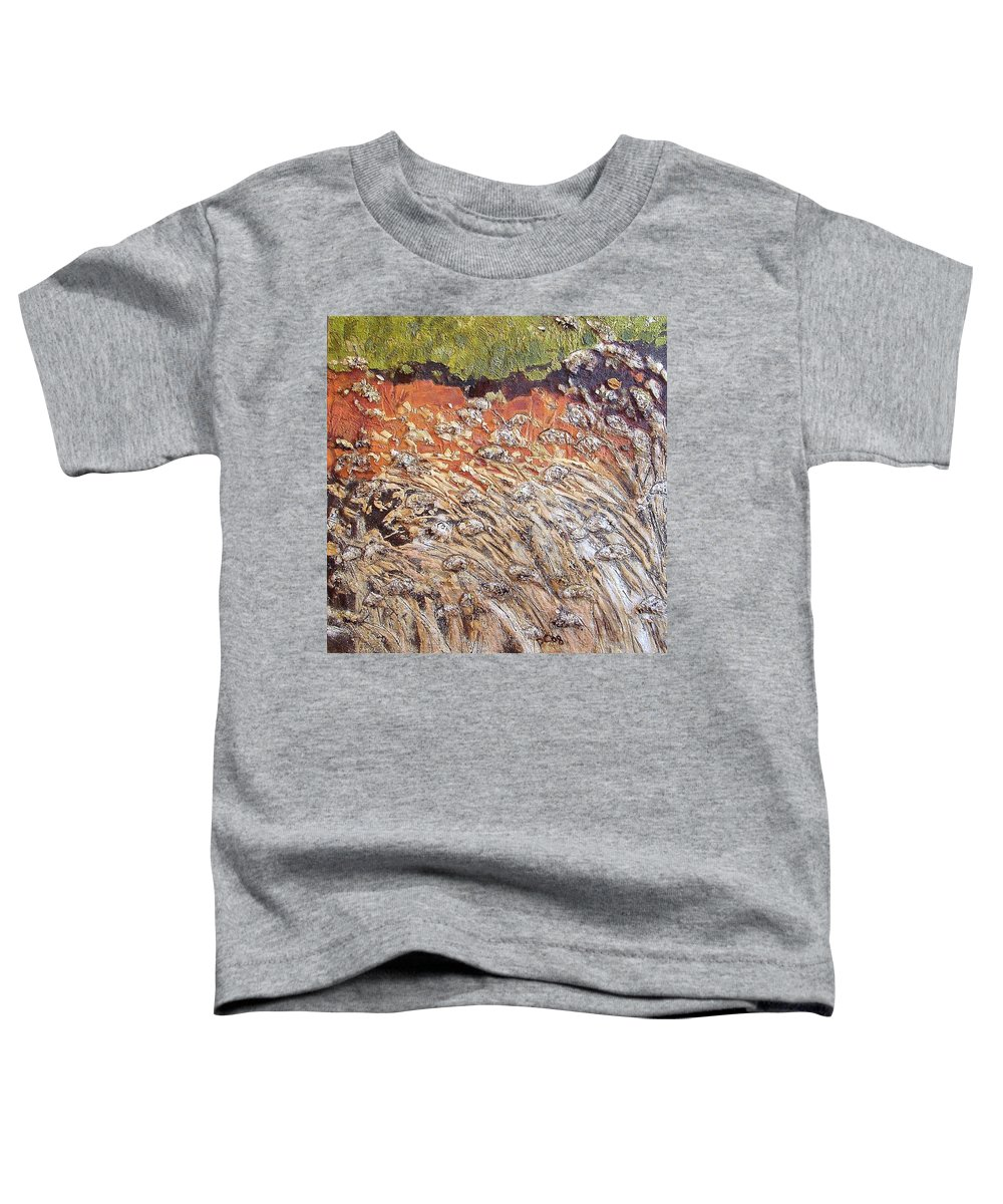 Abstract Toddler T-Shirt featuring the painting Yearning by Piety Choi