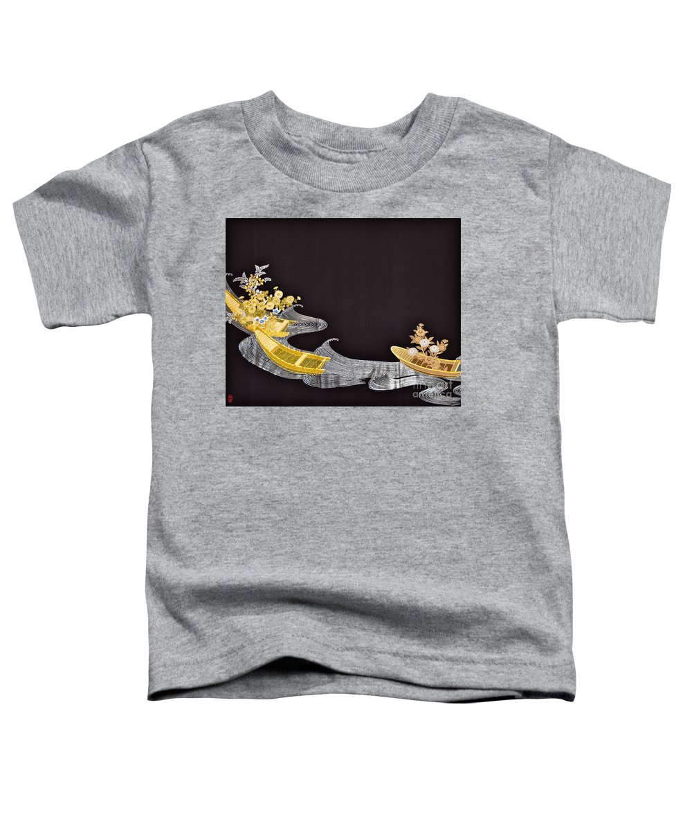 Toddler T-Shirt featuring the digital art Spirit of Japan T61 by Miho Kanamori