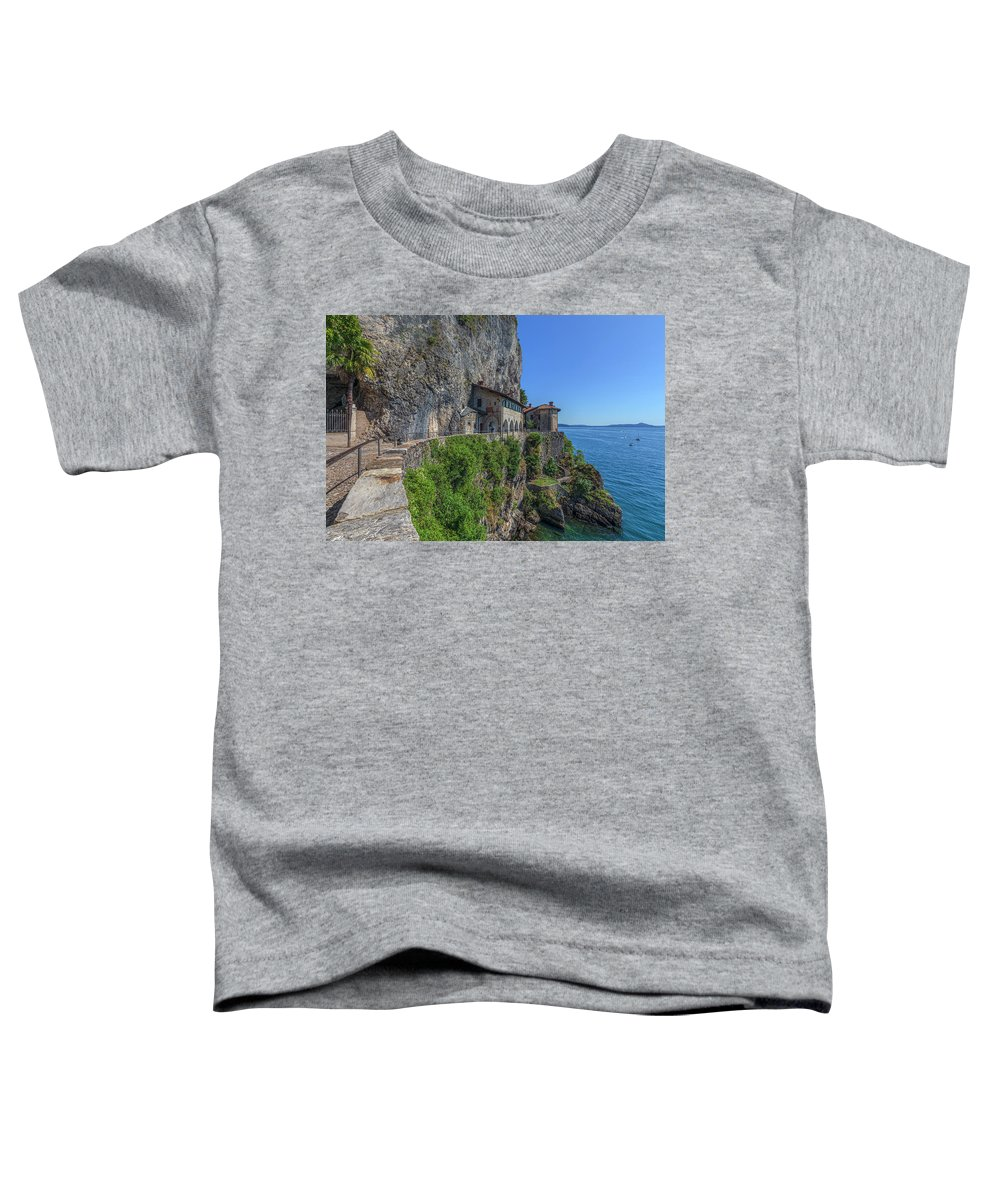 Santa Caterina Del Sasso Toddler T-Shirt featuring the photograph Santa Caterina Del Sasso - Italy by Joana Kruse