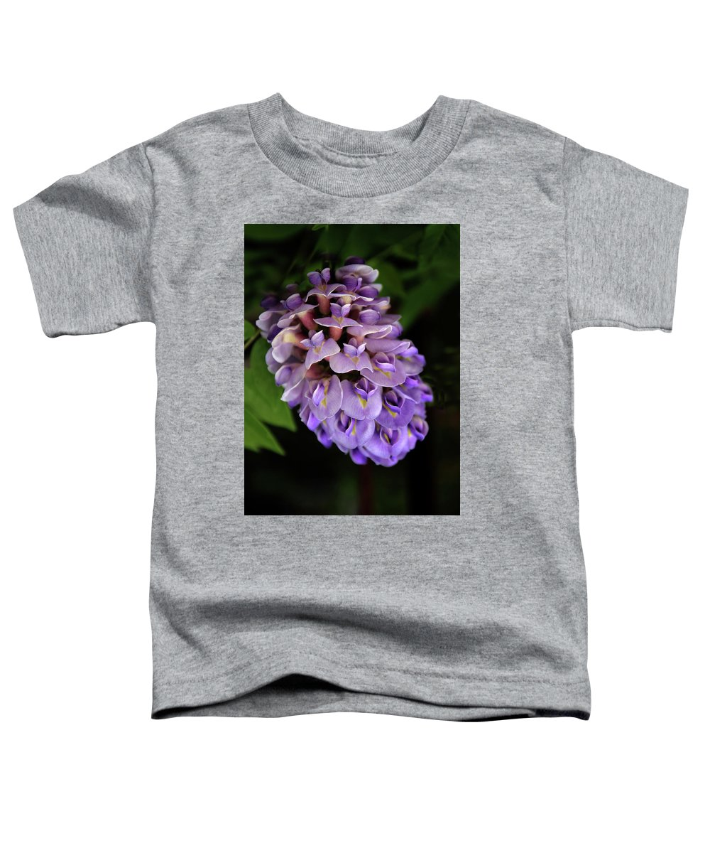 Wisteria Toddler T-Shirt featuring the photograph Amethyst Falls by Jessica Jenney