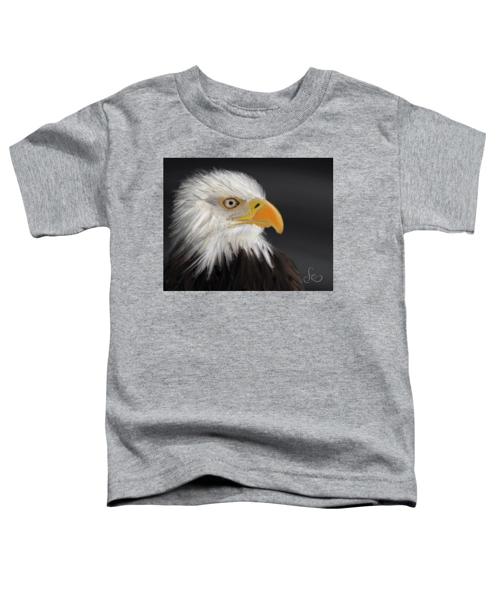 Bald Eagle Toddler T-Shirt featuring the pastel Bald Eagle by Fe Jones