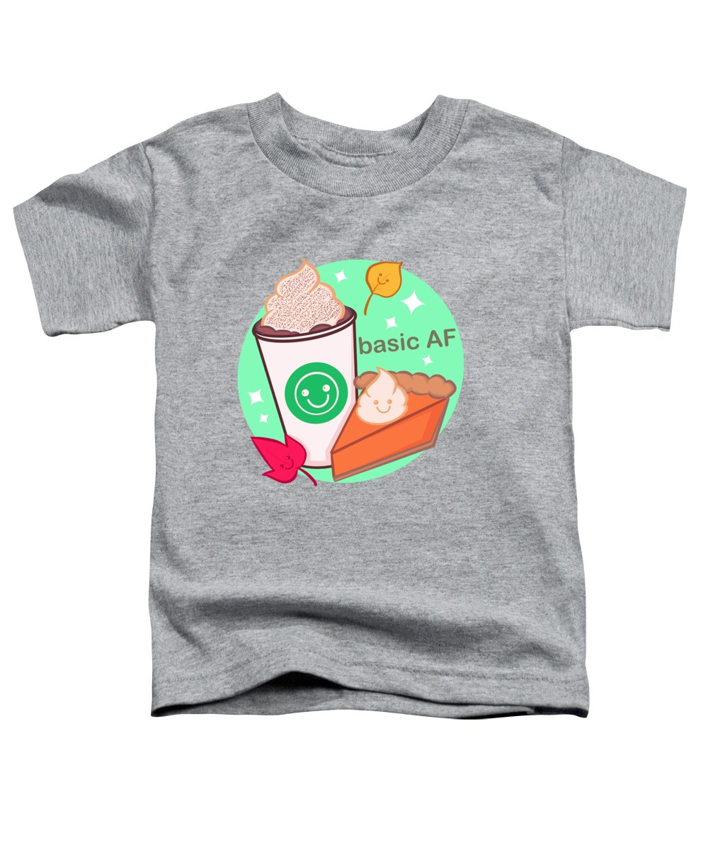 Coffee Toddler T-Shirt featuring the drawing Basic Af by Ludwig Van Bacon