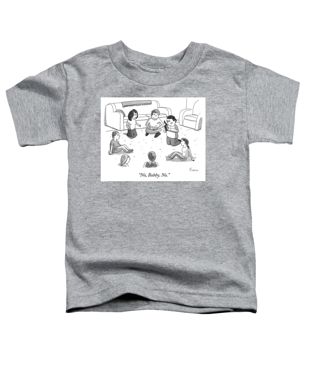 """no Toddler T-Shirt featuring the drawing Bobby No by Zachary Kanin"