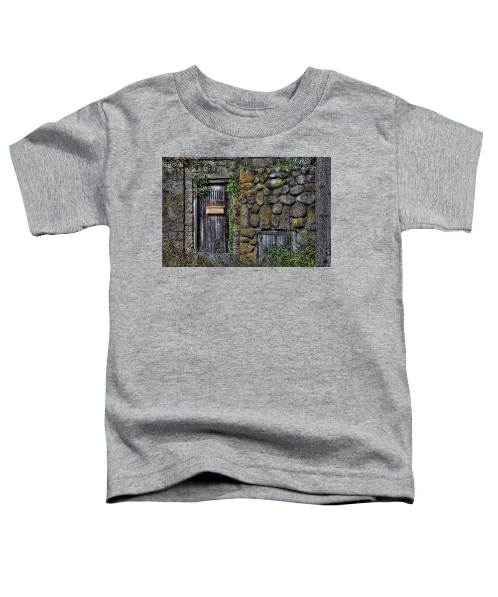 Stone Toddler T-Shirt featuring the photograph Doorway Through Time by Liz Mackney