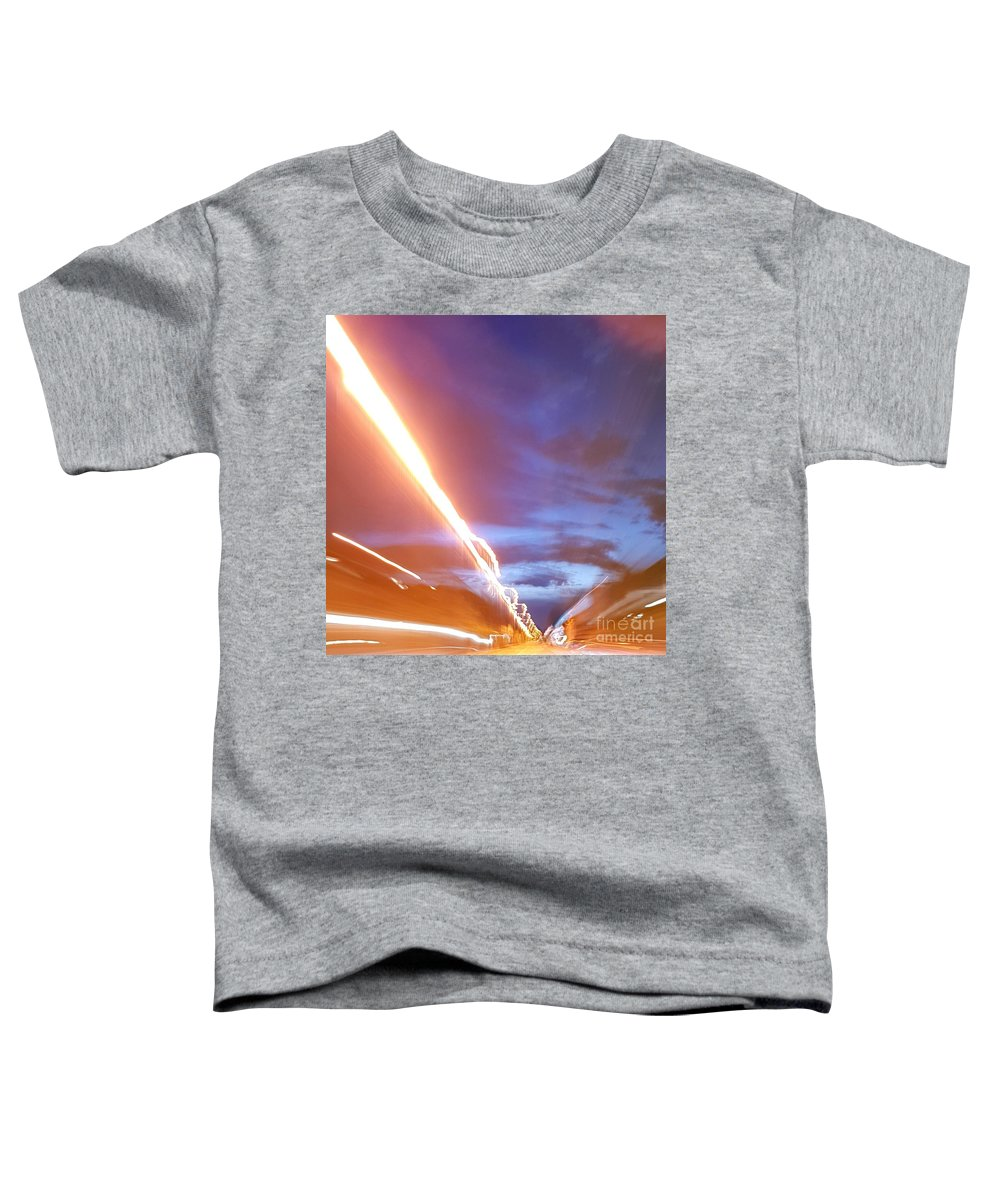 Artdetail Toddler T-Shirt featuring the photograph Flash In The Night by Paola Baroni