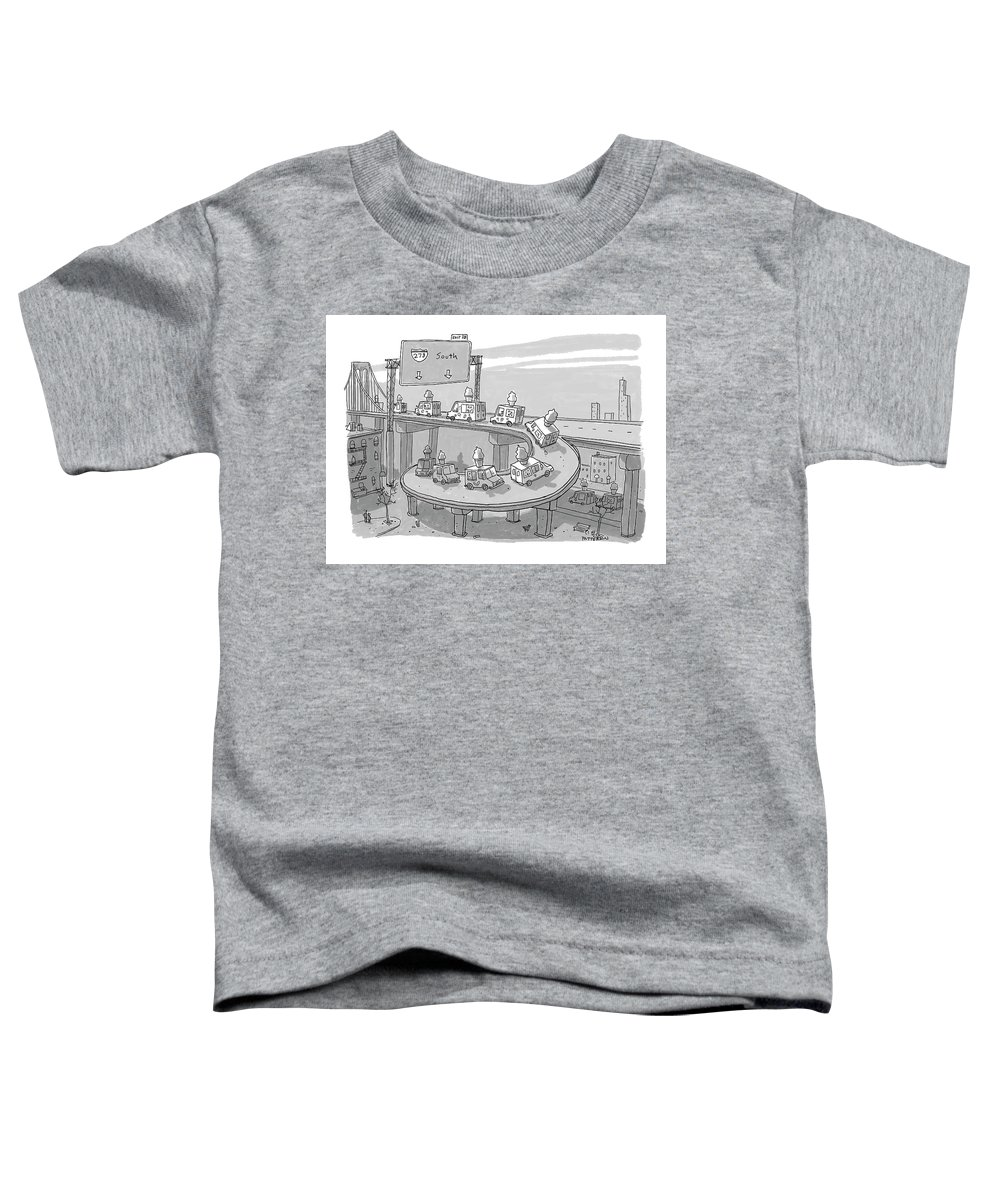 Captionless Toddler T-Shirt featuring the drawing Ice Cream Truck Migration by Jason Patterson