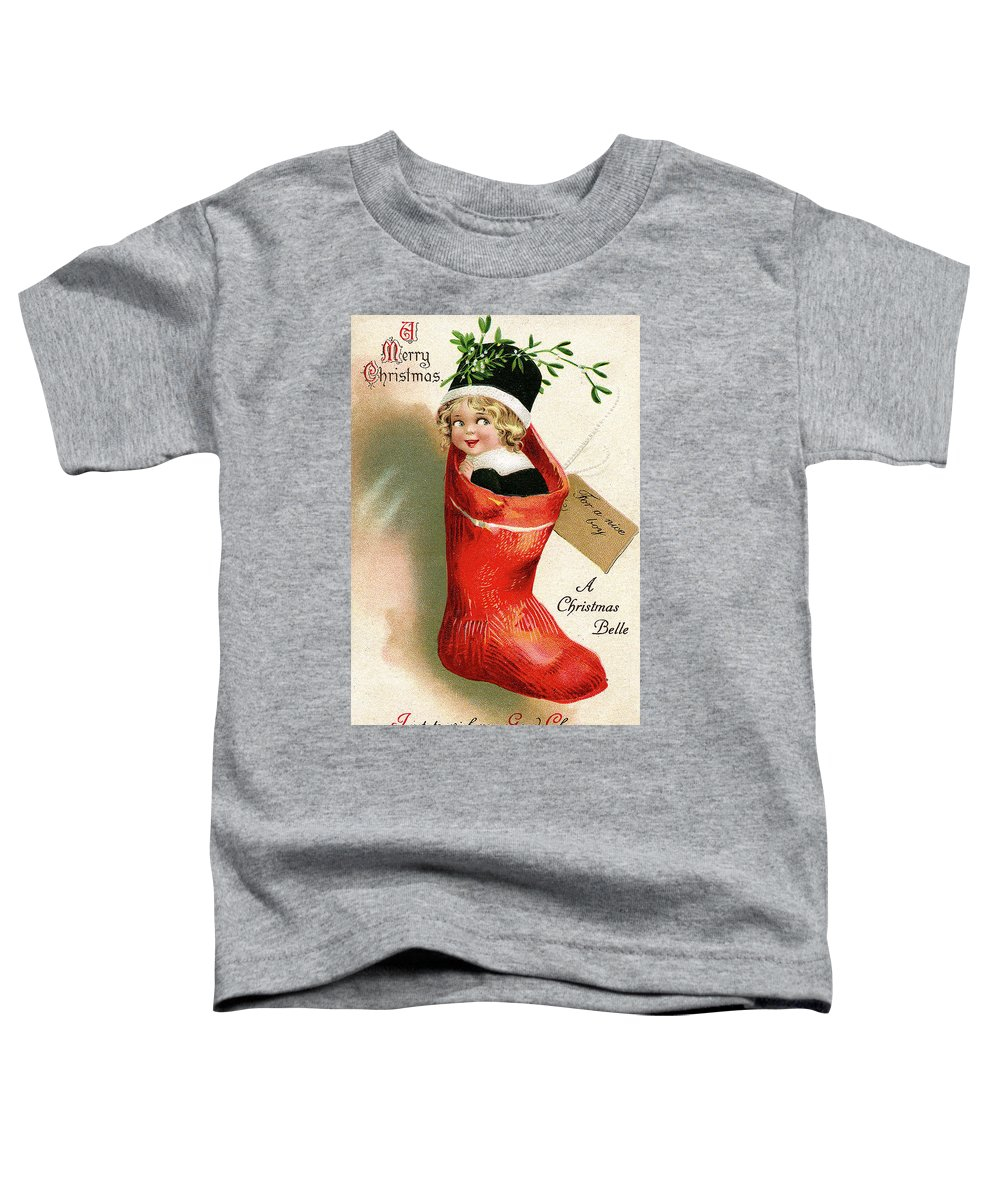 Little Toddler T-Shirt featuring the digital art Little Boy In Big Red Sock by Long Shot