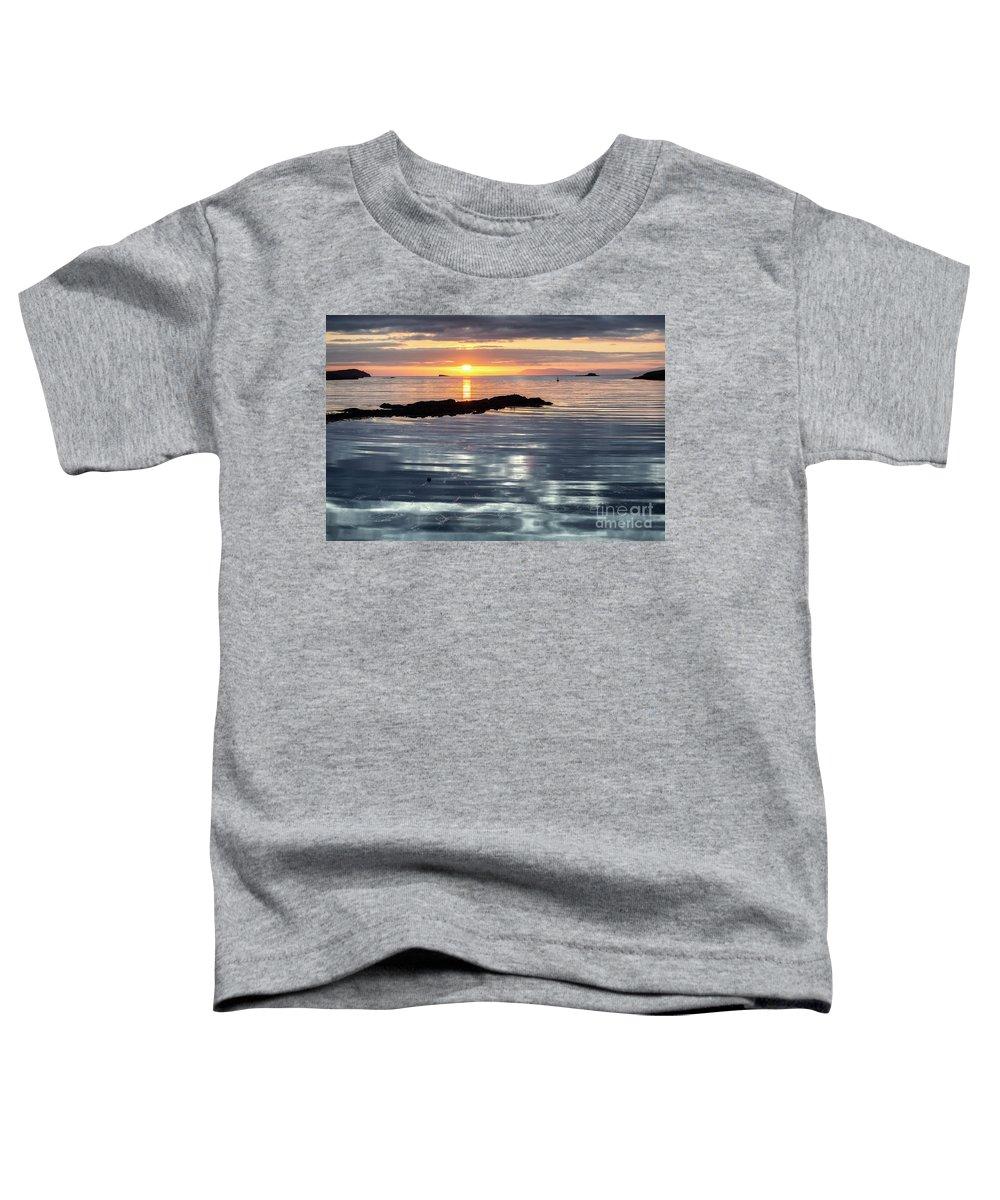 Lochmaddy Toddler T-Shirt featuring the photograph Lochmaddy Sunrise by Richard Burdon
