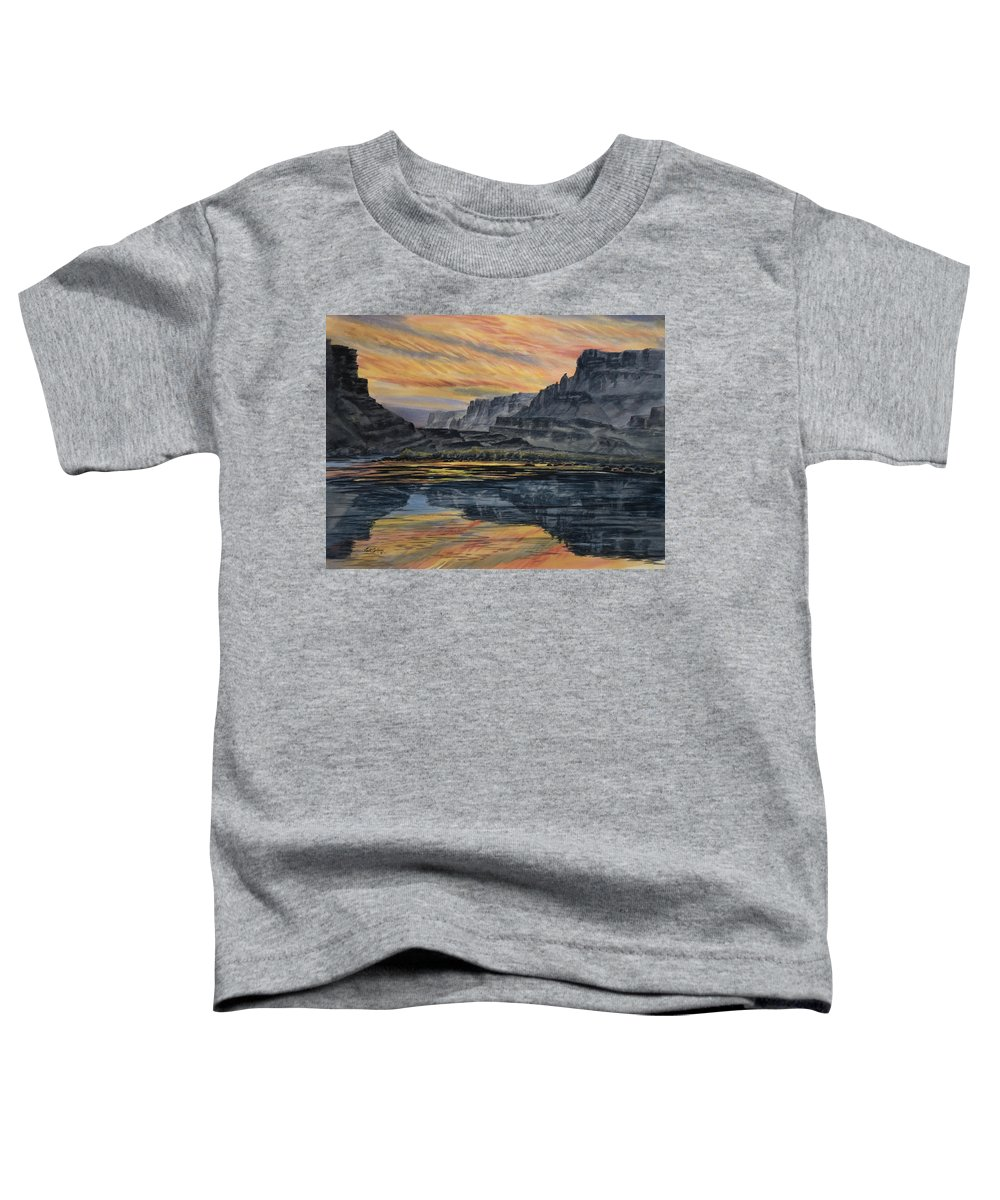 River Toddler T-Shirt featuring the painting Marble Canyon Sunset by Link Jackson