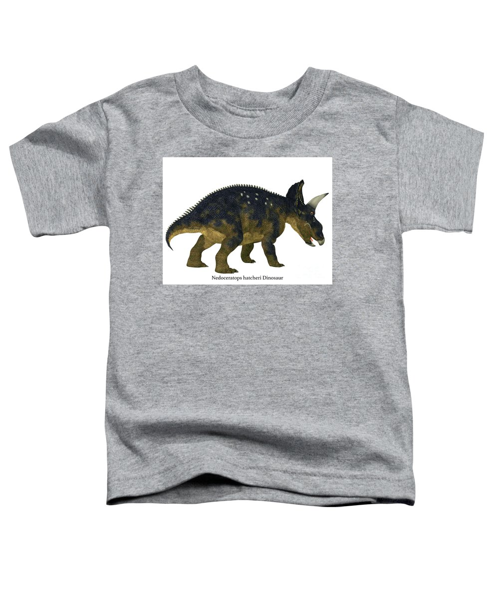 Diceratops Digital Art Toddler T-Shirts