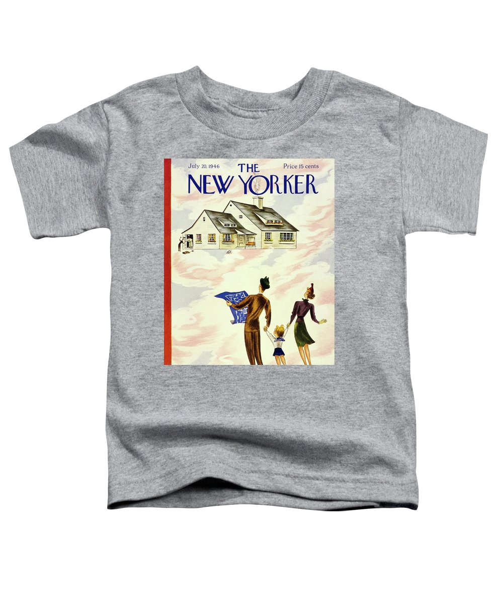 Illustration Toddler T-Shirt featuring the painting New Yorker July 20 1946 by Constantin Alajalov