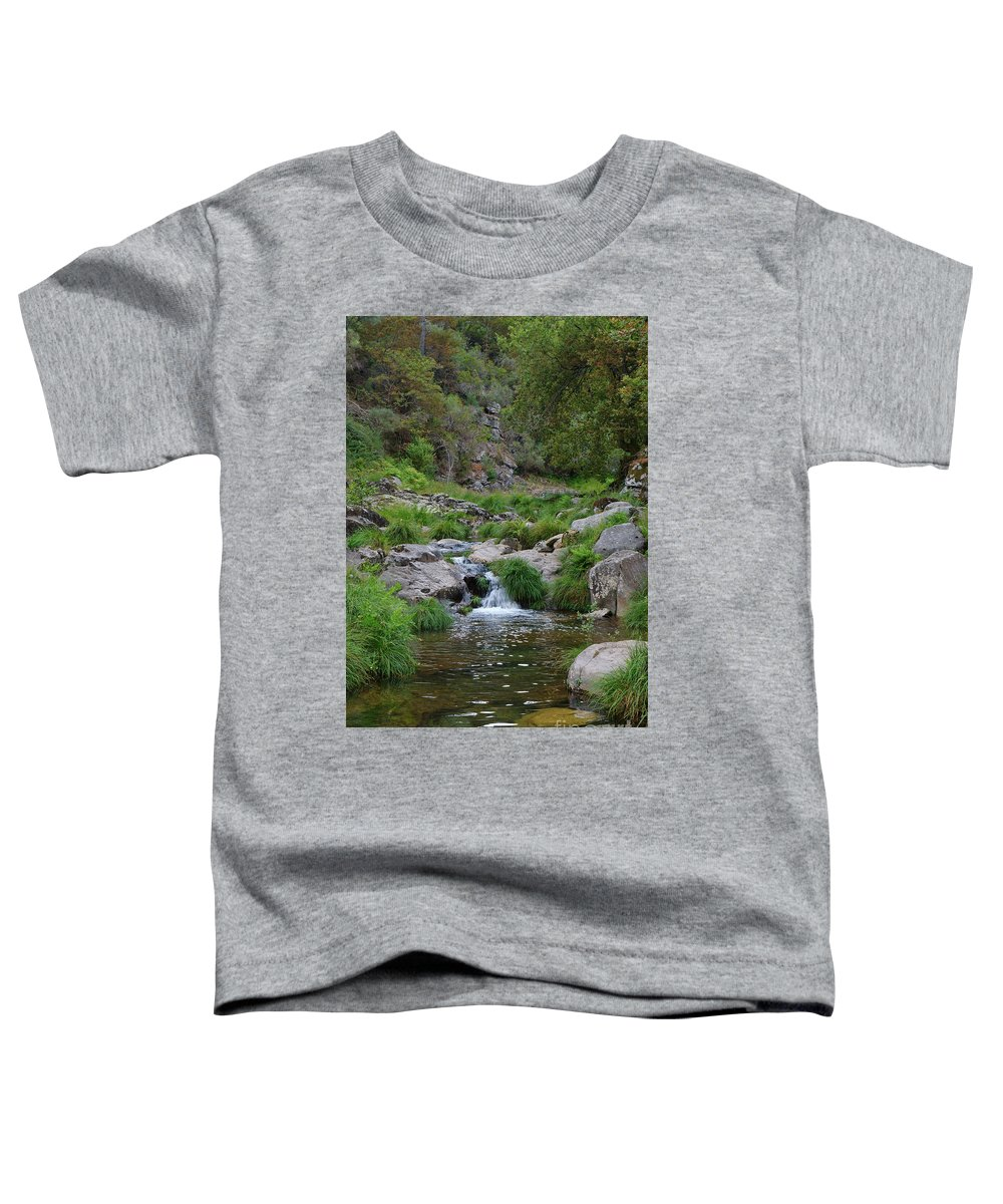 Poco Negro Toddler T-Shirt featuring the photograph Poco Negro River In Carvalhais by Angelo DeVal