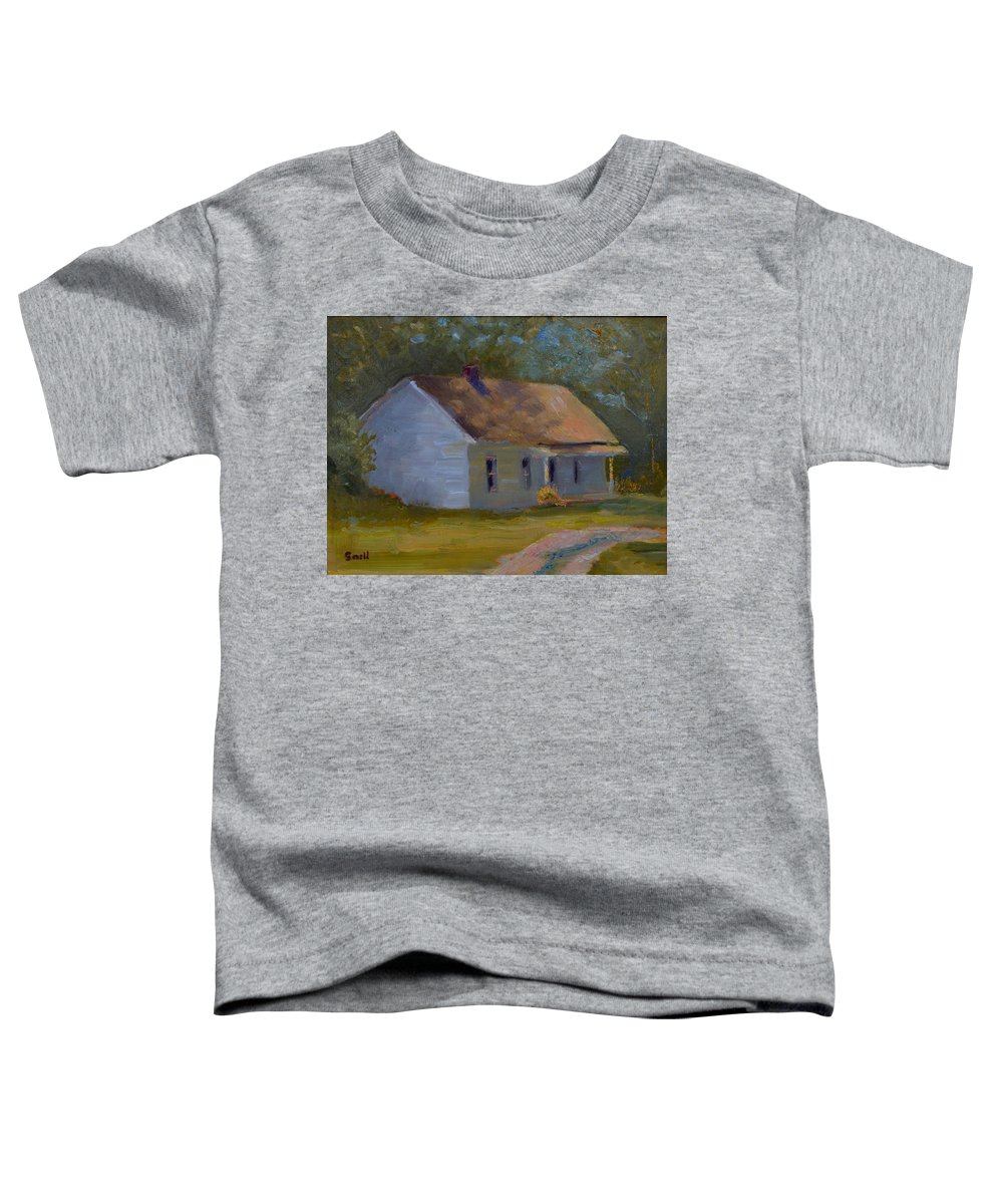 Kentucky Toddler T-Shirt featuring the painting Tay's Cottage by Roger Snell
