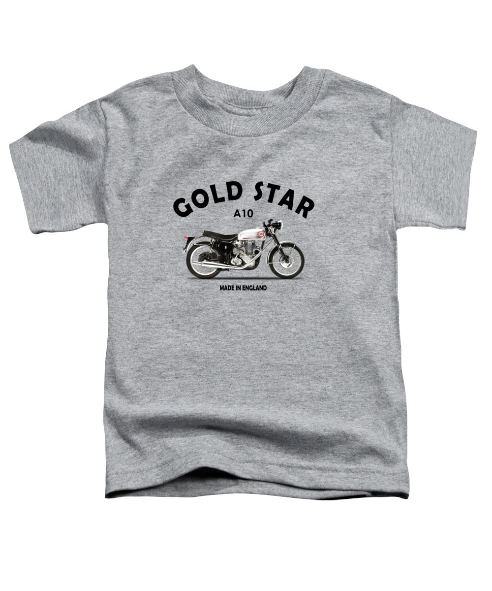 Bsa Gold Star Toddler T-Shirt featuring the photograph The Gold Star 1957 by Mark Rogan