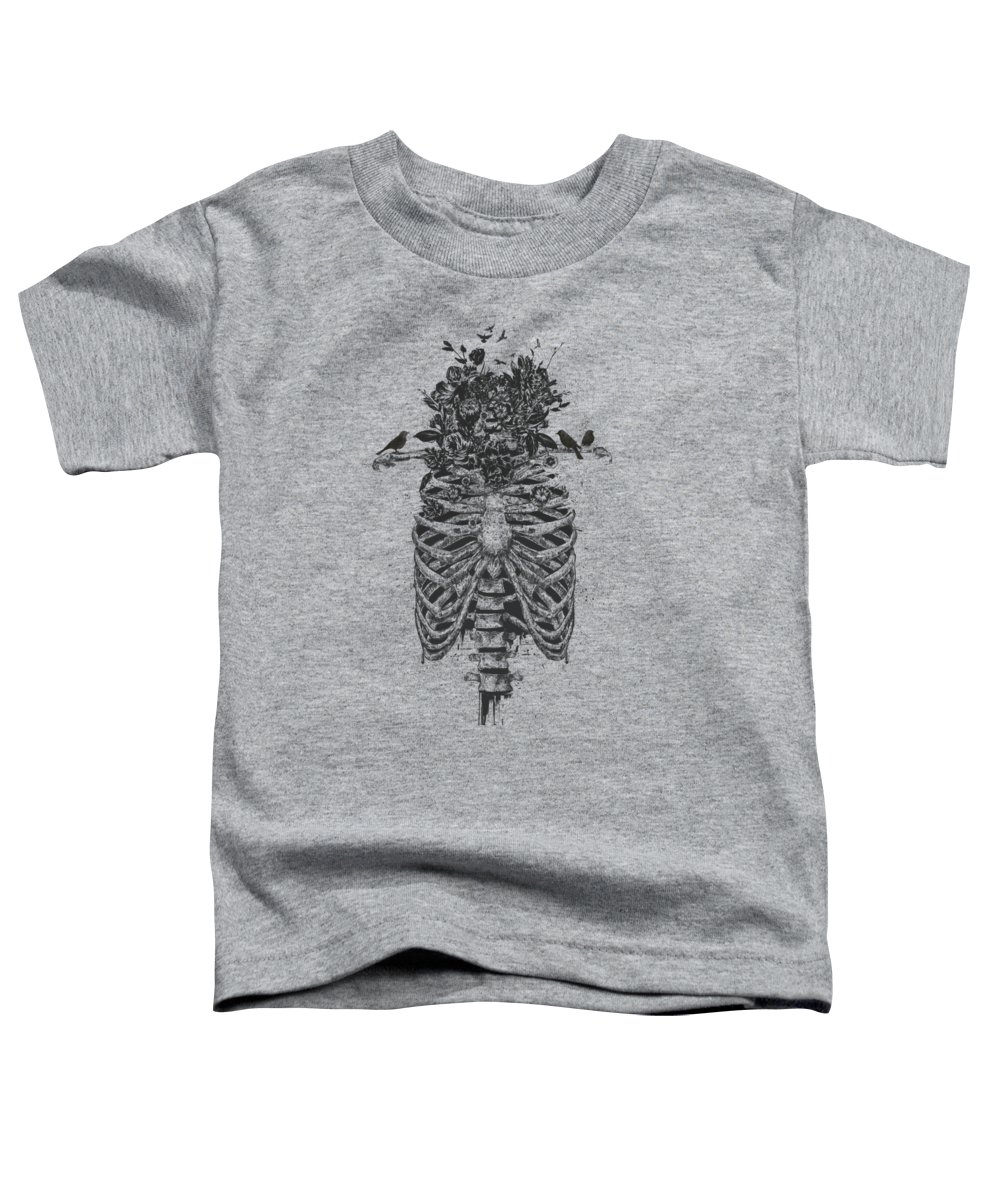 Skeleton Toddler T-Shirt featuring the drawing Tree of life by Balazs Solti