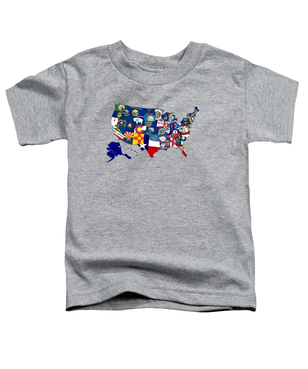 America Map Photographs Toddler T-Shirts