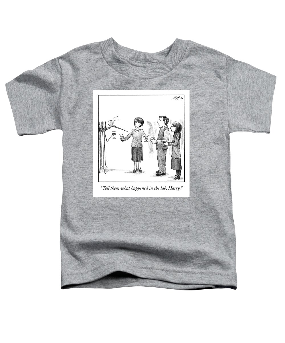 Cctk Toddler T-Shirt featuring the drawing What Happened in the Lab by Harry Bliss