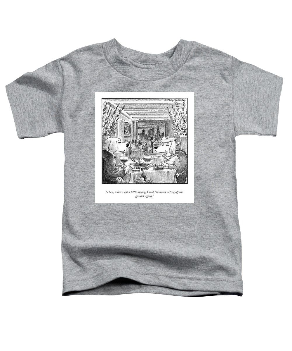 """""""then Toddler T-Shirt featuring the drawing Eating Off The Ground by Harry Bliss"""