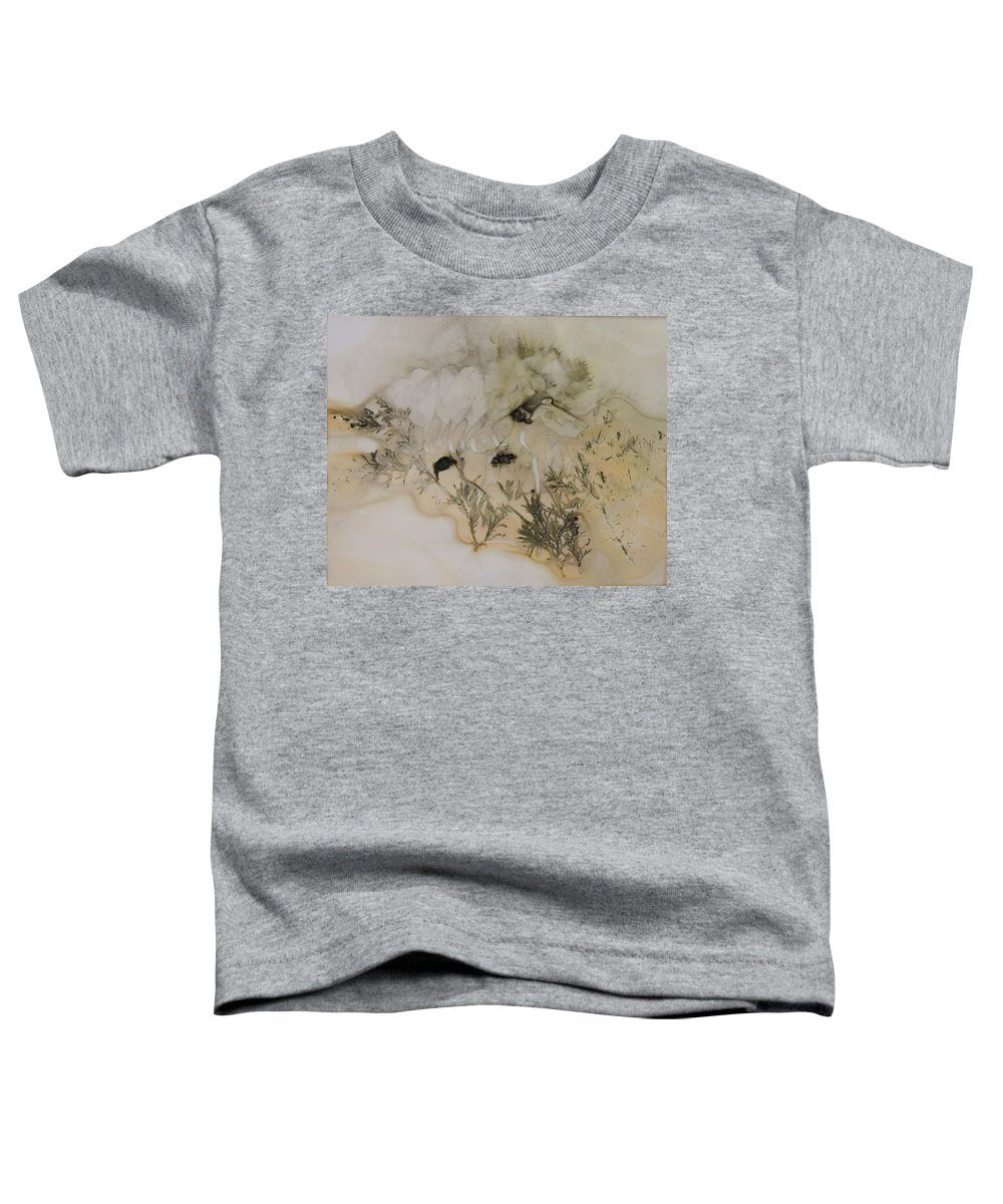 Nature Toddler T-Shirt featuring the mixed media Eco print 5 by Charla Van Vlack