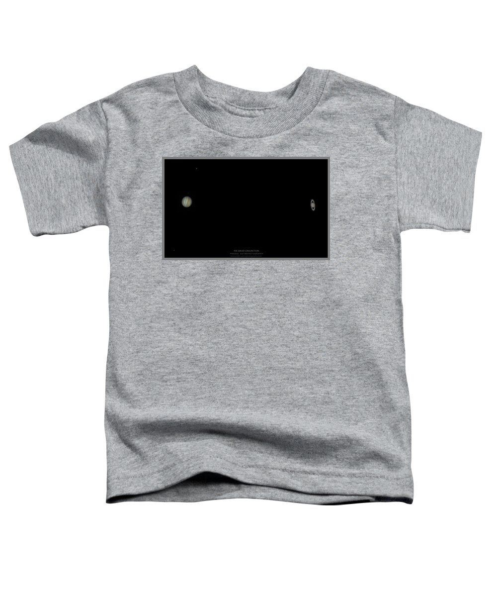 Toddler T-Shirt featuring the photograph The Great Conjunction of Jupiter and Saturn by Prabhu Astrophotography