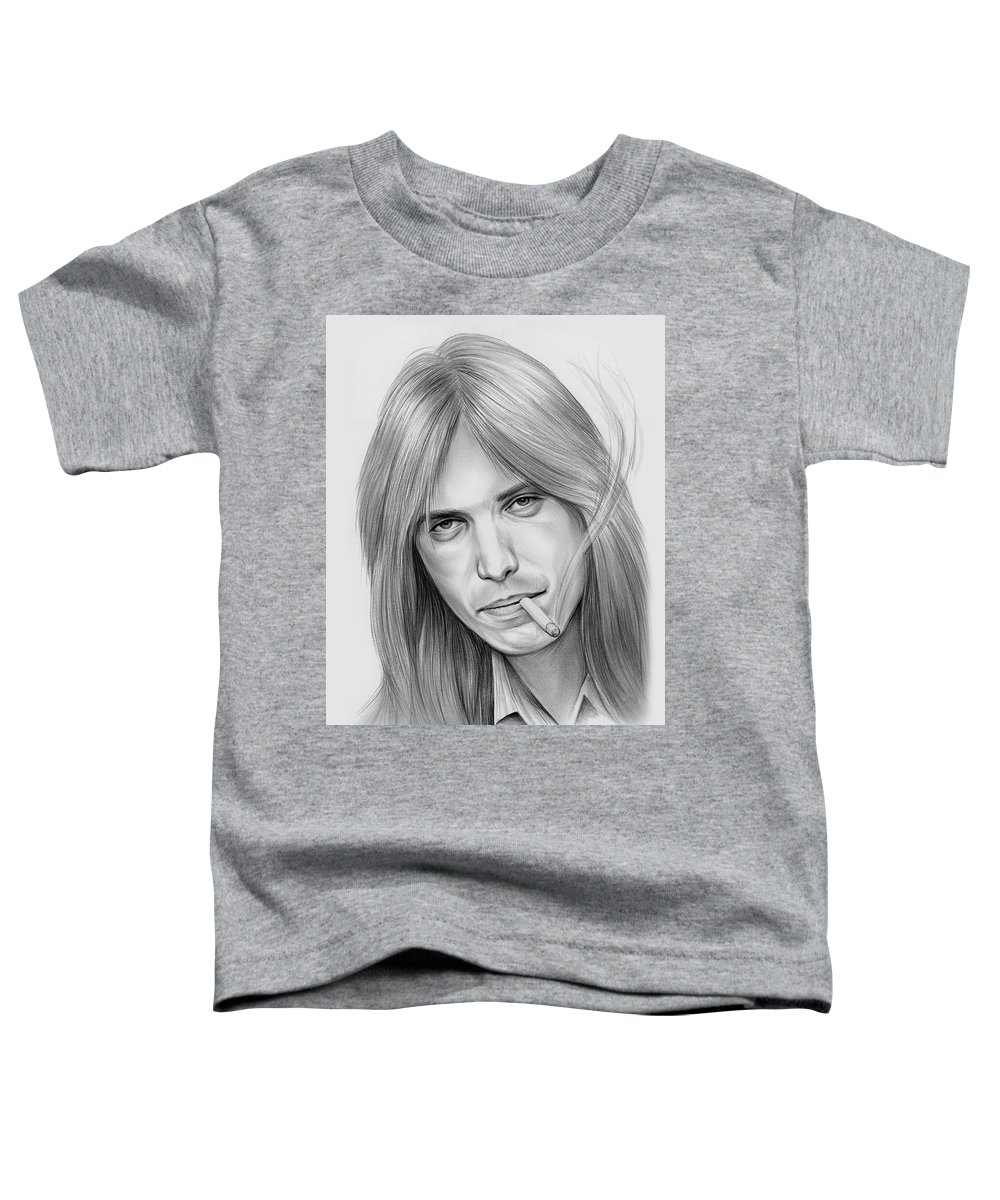 Tom Petty Toddler T-Shirt featuring the drawing Tom Petty - Pencil by Greg Joens