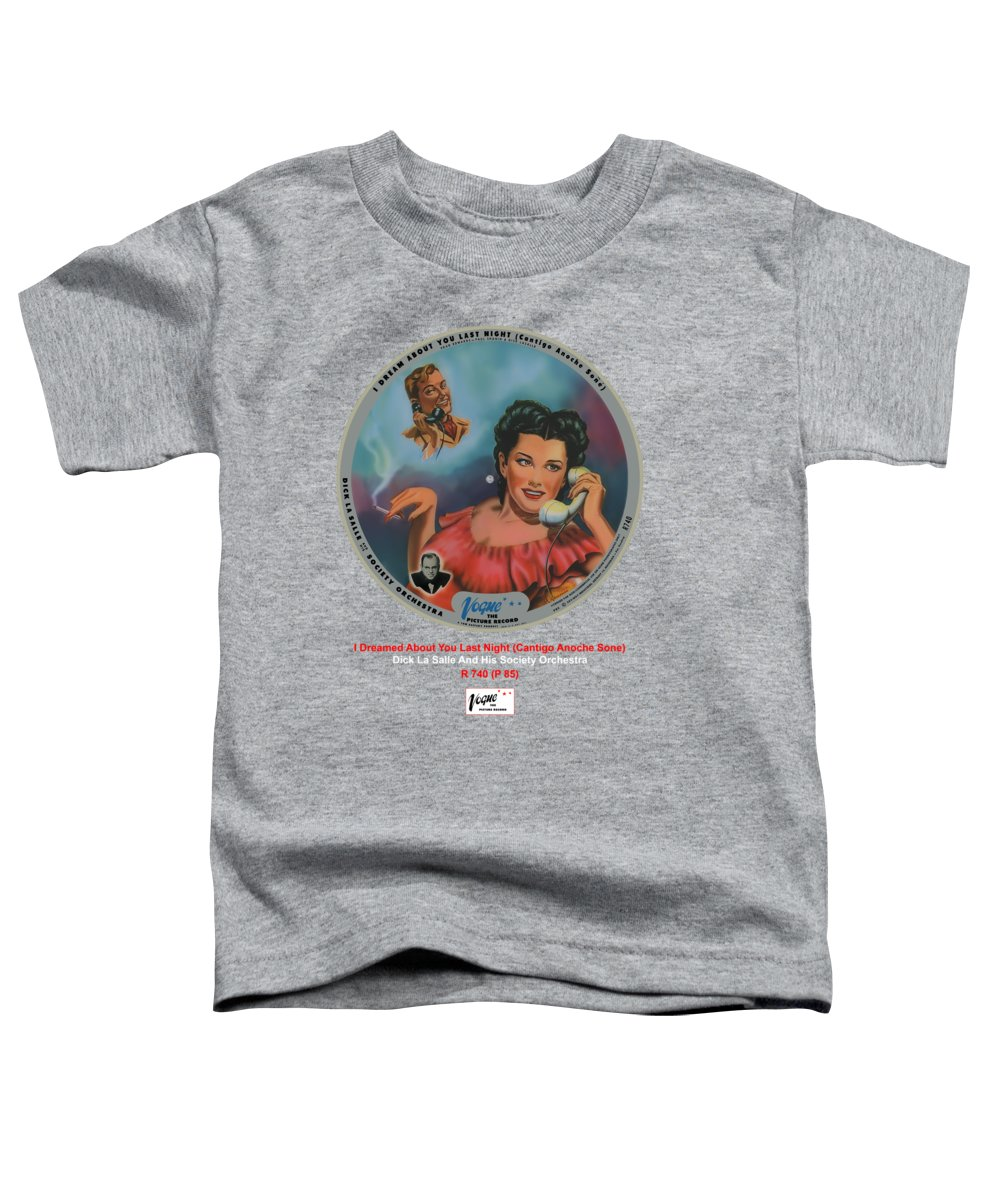 Vogue Picture Record Toddler T-Shirt featuring the digital art Vogue Record Art - R 740 - P 85 by John Robert Beck