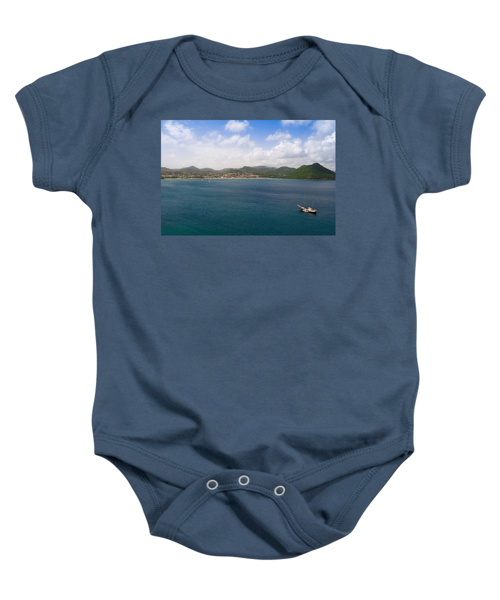 Landscape Baby Onesie featuring the photograph Rodney Bay St. Lucia by Ferry Zievinger