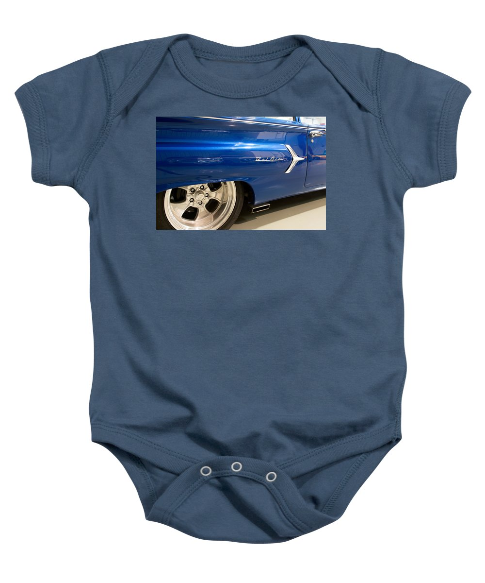 1960 Chevrolet Bel Air Baby Onesie featuring the photograph 1960 Chevrolet Bel Air 5 012315 by Rospotte Photography