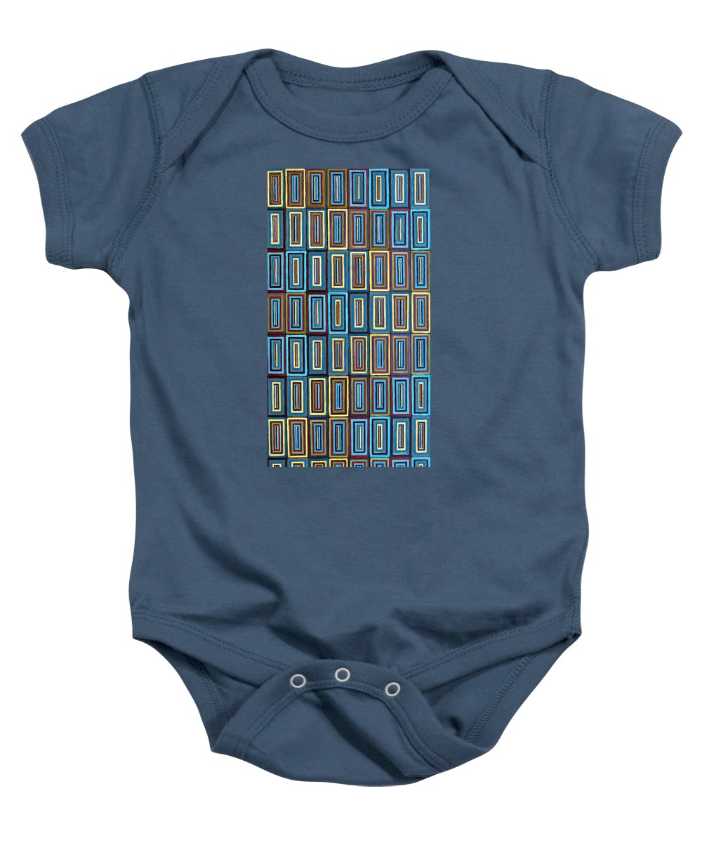 Art Baby Onesie featuring the painting A Contemplation Of Identity by RB McGrath