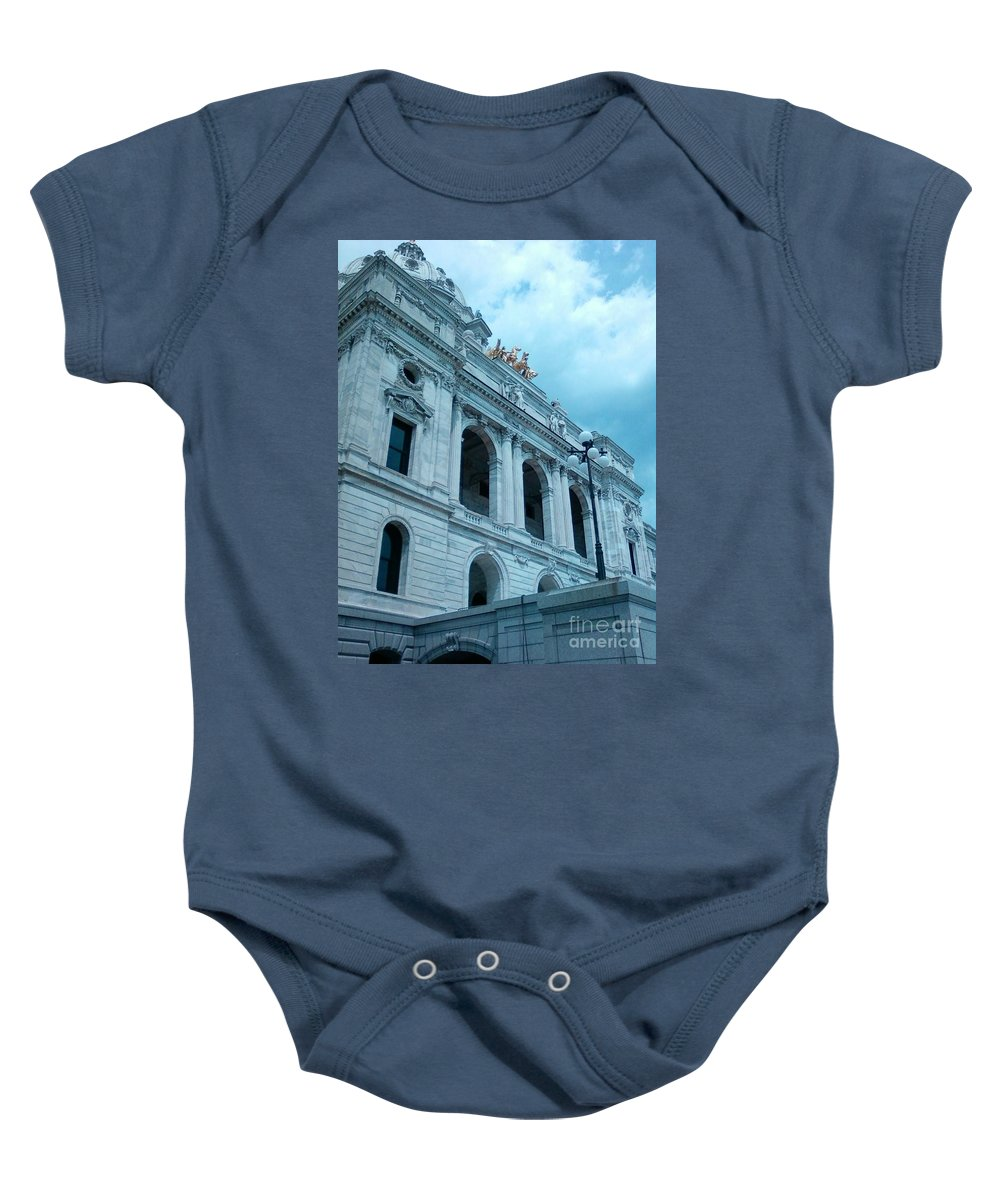 Minnesota State Capitol Baby Onesie featuring the photograph Minnesota State Capitol by Alfie Martin
