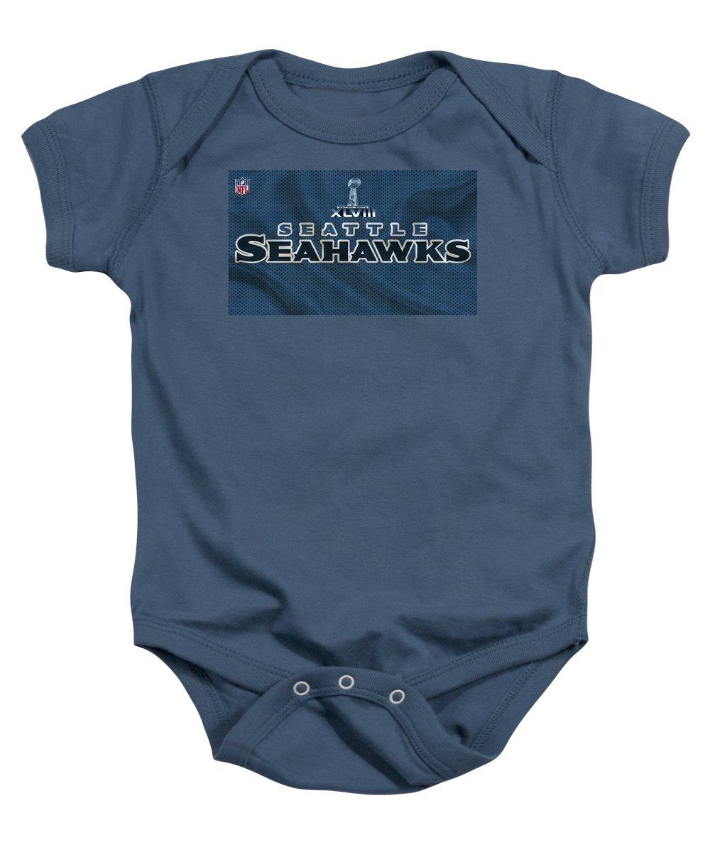 Seahawks Baby Onesie featuring the photograph Seattle Seahawks by Joe Hamilton