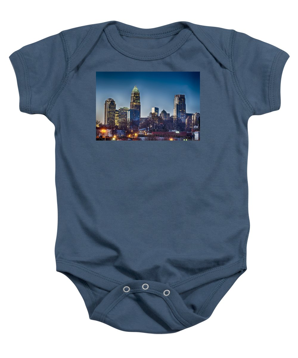 Early Baby Onesie featuring the photograph Early Morning In Charlotte Nc by Alex Grichenko