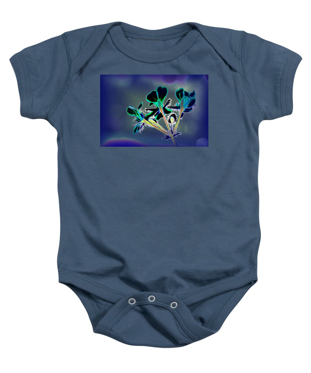 Flower Baby Onesie featuring the photograph Abstract Flower - Digital Abstract by Christiane Schulze Art And Photography