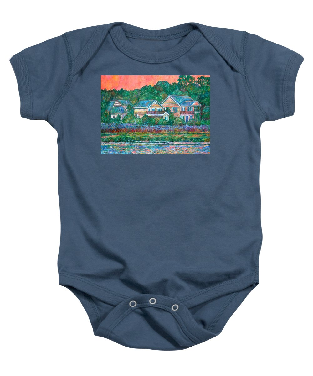 Landscape Baby Onesie featuring the painting Across The Marsh At Pawleys Island    by Kendall Kessler