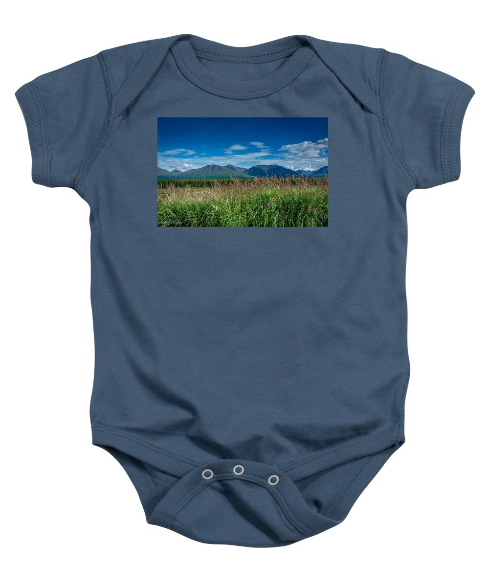 Field Baby Onesie featuring the photograph Alaskan Wilderness by Andrew Matwijec