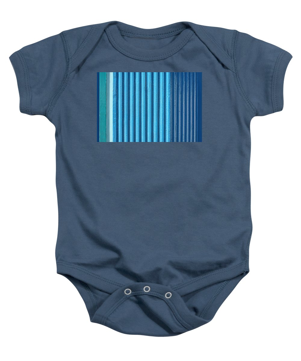 Abstract Baby Onesie featuring the photograph Alternation by Nikolyn McDonald