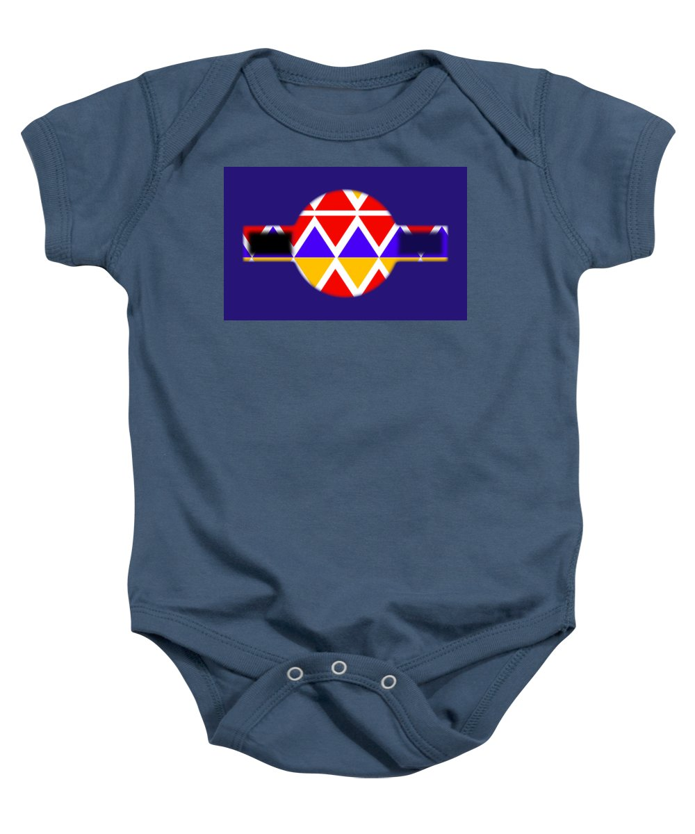 Black Hills Art Baby Onesie featuring the painting American Black by Charles Stuart