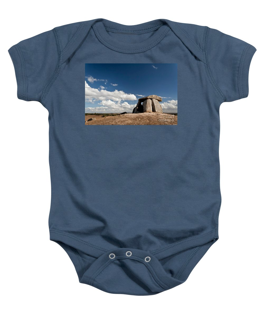 Dolmen Baby Onesie featuring the photograph Ancient Dolmen by Jose Elias - Sofia Pereira